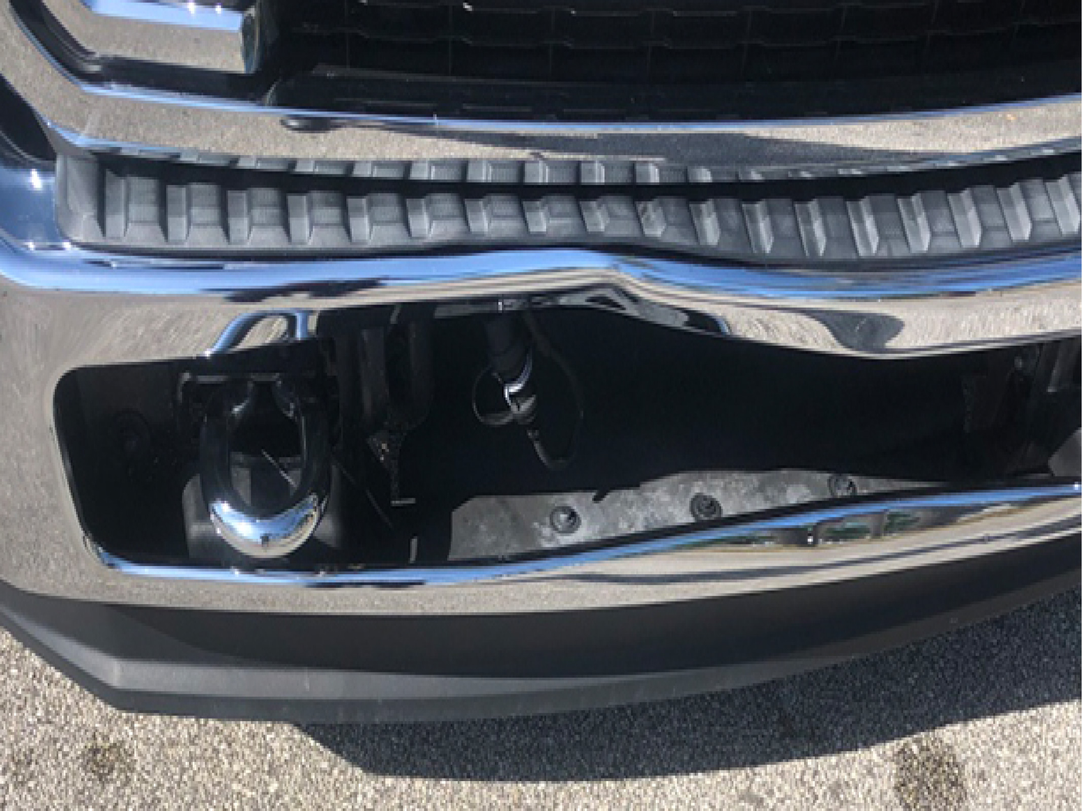 damaged from GMC bumper