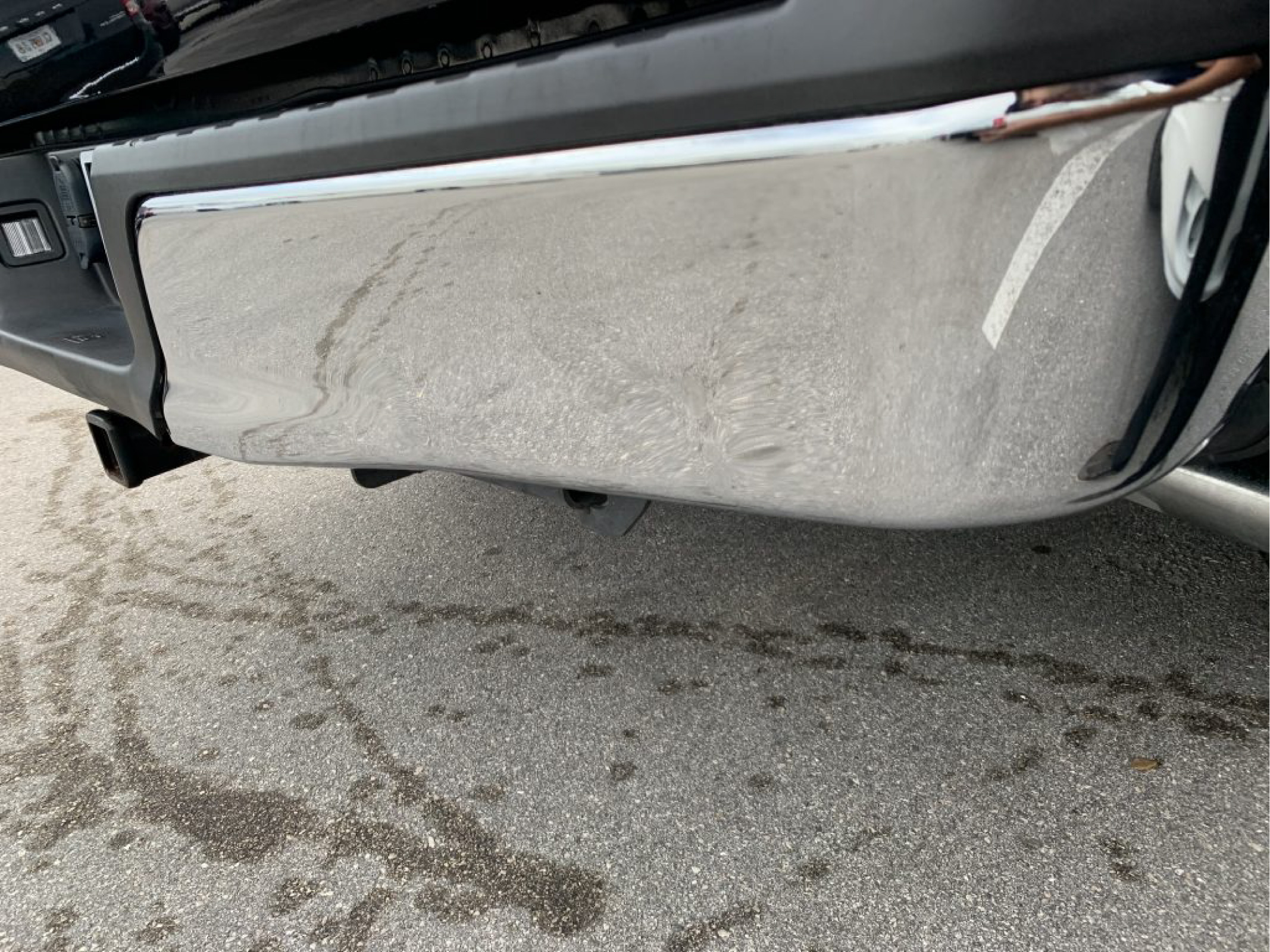 repaired chrome bumper by mobile service
