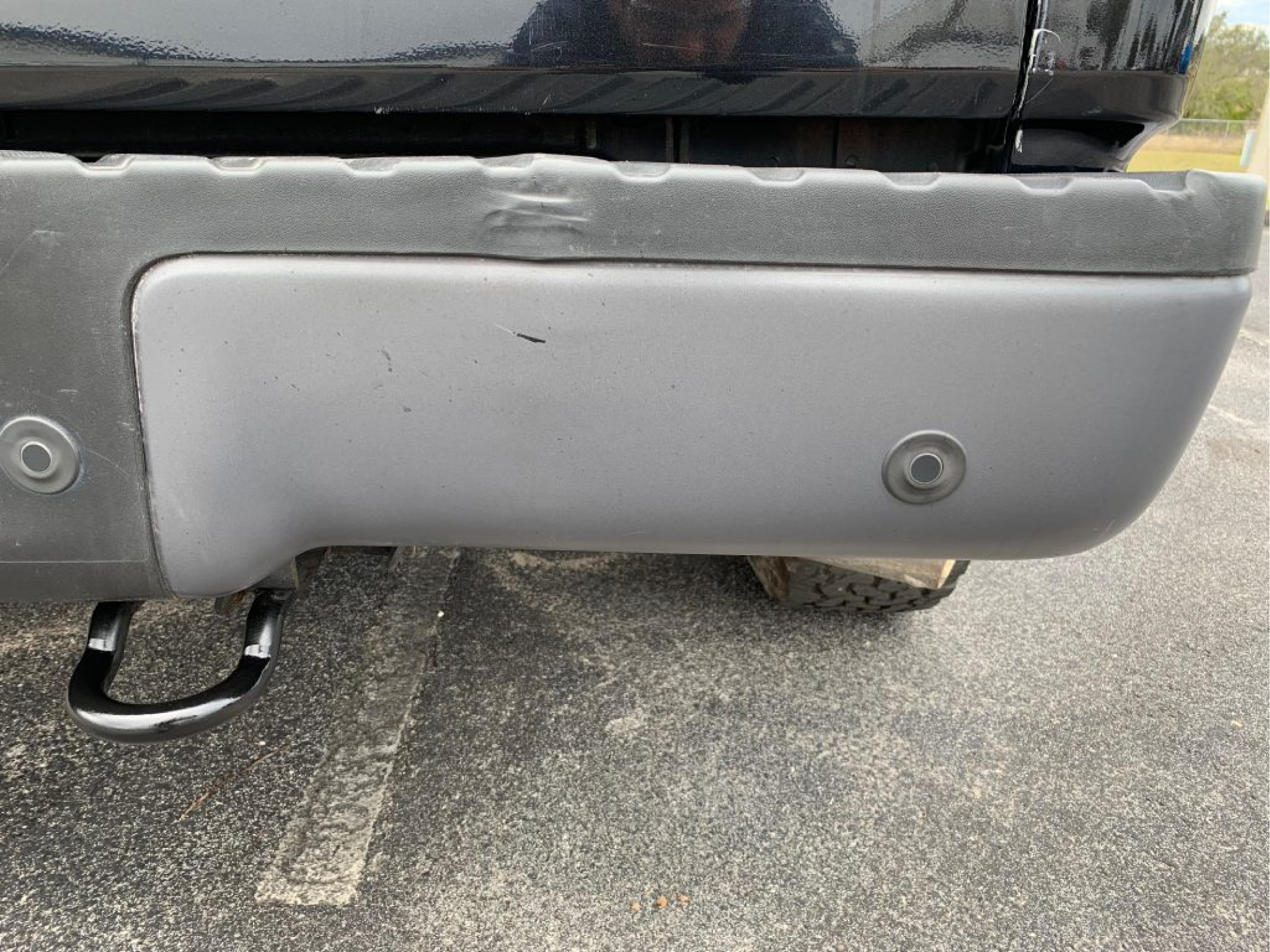 fixed rear bumper