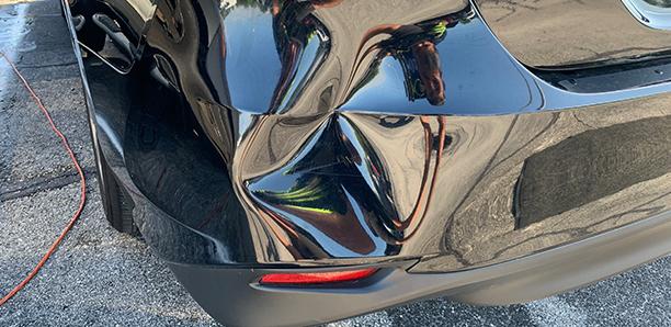 paintless plastic bumper repair before